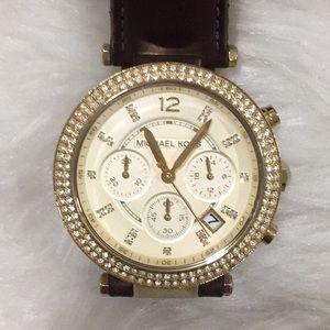 Michael Kors Leather Watch